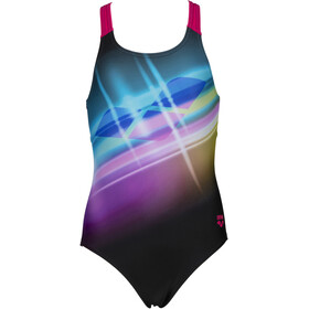 arena Cherry Pro Back One Piece Swimsuit Girls black/freak rose